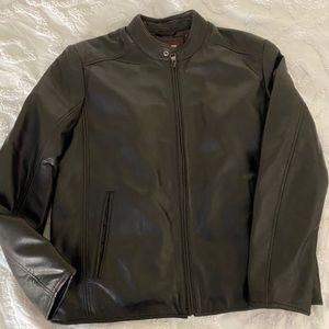 Johnston & Murphy Leather Bomber Jacket